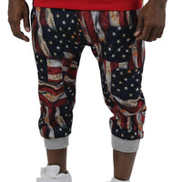 Switch Men's American Flag Capri Joggers Jogging Sweatpants