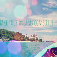 Make your dreams come true Art Print by Laura James Cook