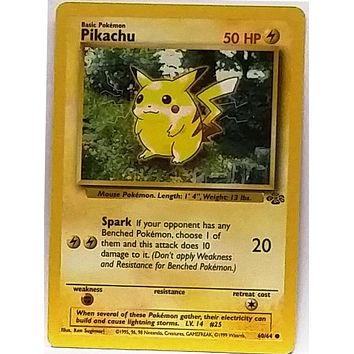 WOW! Pikachu 60/64 Pokemon Jungle Set TCG VERY Sharp 1999 Pokemon Card NM+, Free Ship, Qty
