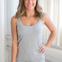 Perfect Touch Solid Tank - Heather Grey