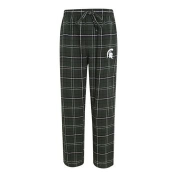 ONETOW NCAA Michigan State Spartans Mens Flannel Pajama Pants