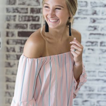 Leila Pink Striped Dress