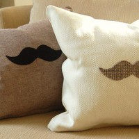 Custom Quick Hide Your 'Stache 16x16 herringbone w/ by Eristotle