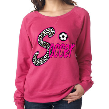 Soccer White Leopard women`s long sleeve Pullover