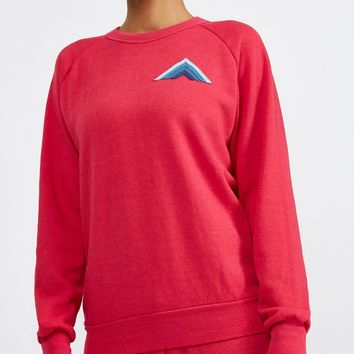MOUNTAIN STRIPE CREW NECK SWEATSHIRT