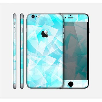 The Vector Abstract Shaped Blue Overlay Skin for the Apple iPhone 6 Plus