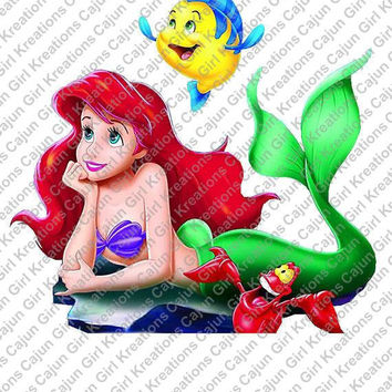 Little Mermaid Disney Vacation Printable Iron On Transfer DIY Tshirts Instant Download We Can Personalize!! Add a Name!!