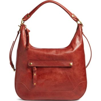 Frye Women's Red Melissa Large Leather Hobo Bag (NWD)
