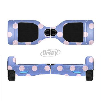 The Vintage Scratched Pink & Purple Polka Dots Full-Body Skin Set for the Smart Drifting SuperCharged iiRov HoverBoard