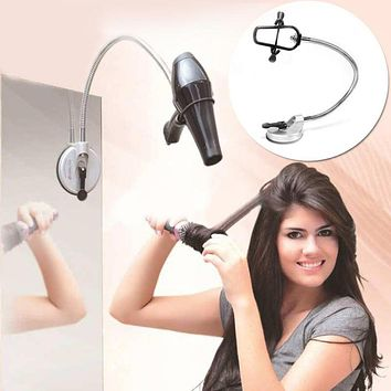 Hands Free 360 Degrees Rotation Hairdryer Organizing Holder Stand Rack with  Suction Cup