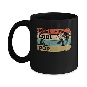 Vintage Reel Cool Pop Fish Fishing Fathers Day Mug