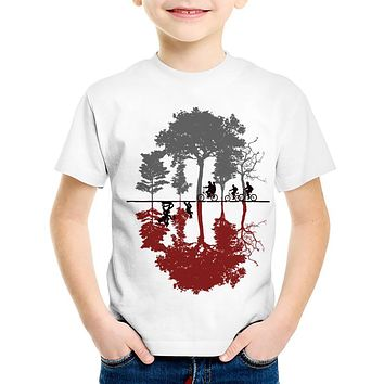 TEEHEART Boys/girls's Modal T-shirt stranger things Print 18M-10T Summer Children Baby Girls Christmas Clothing