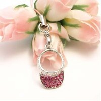 Pink Cap Charm for Cell Phones, Purses, iPods and Others
