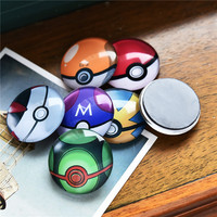5pcs lot 30mm Random Children Cartoon Pokemon Ball Glass Cabochon Fridge Magnets Blackboard Magnet Office&School Supplies Gift