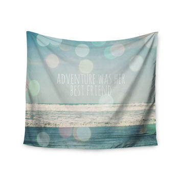 "Susannah Tucker ""Adventure Was Her Best Friend"" Blue White Wall Tapestry"