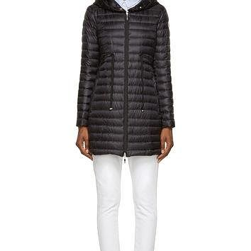 Moncler Black Quilted Down Barbel Jacket