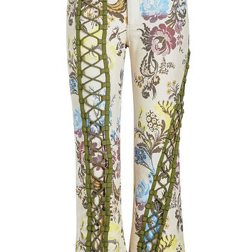 Printed Pants with Lace-Up Front - Marques' Almeida | WOMEN | KR STYLEBOP.COM