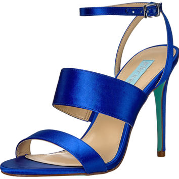 Blue by Betsey Johnson Women's Sb-Jenna Dress Sandal Blue Satin 8.5 B(M) US '