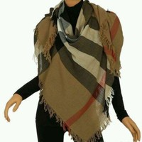 DCCKIN2 Burberry Women's Large Casmere Scarf New