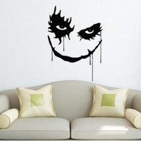 Wall Decals Joker Smile Vinyl Sticker Horror Decal Home Decor Art Design Horror Joker Smile Window Bedroom Dorm Living Room Chu1222