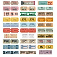 30 Pack of Ticket Stub Bookmarks