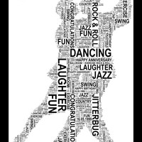 Dancing Couples - Personalised A4 Word Art Print FREE UK P&P. Unique Gift,