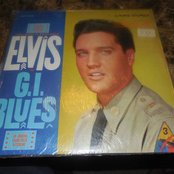 Vintage Vinyl Record Elvis Presley G.I. Blues - 1960 Soundtrack EX+