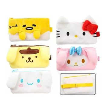 Kawaii Hello Kitty gudetama Pencil Cases Cute Stationery Storage Pen Bag Children Gifts School Office Pencil Bags Pencil Pouch