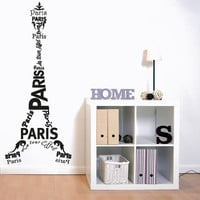 Wall Decal Vinyl Sticker Decals Art Decor Sign Lettering Paris Mural France The Eiffel Tower City  Bedroom Modern Fashion ( r879)