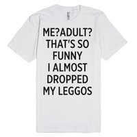Me? Adult?-Unisex White T-Shirt