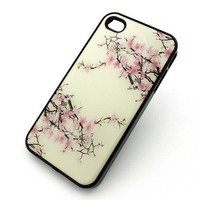 310 IPHONE 4 4s Plastic Cover Snap On Case SPRING CHERRY BLOSSOM Flower japanese