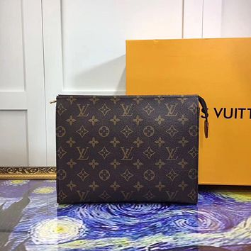 LV Louis Vuitton LARGE MONOGRAM CANVAS HAND BAG