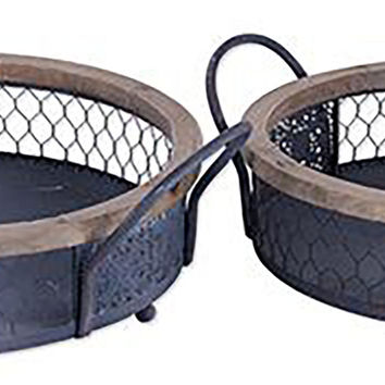 Henley Wire Trays, Set of 2