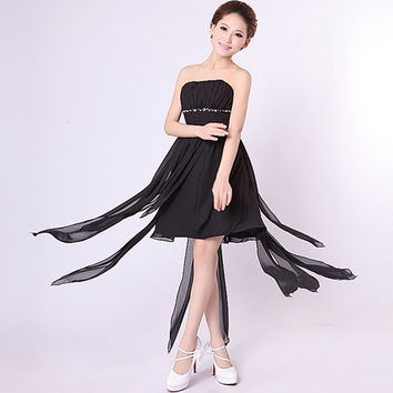 New Fashion Women's Sexy Strapless Bridal Bridesmaids Formal Evening Party Short Mini Cocktail Dress