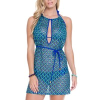 Luli Fama Backless Bikini Coverup - Blue Kiss
