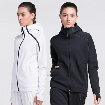 Women Running Jacket Solid Color Cotton Breathable Elastic Softshell Jacket Yoga jogging Fitness Sports Camping hiking Jackets