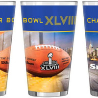 NFL 2014 Super Bowl XLVIII Champion 16-Ounce Sublimated Pint Glass
