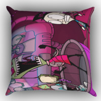 invader zim cartoon  X1215 Zippered Pillows  Covers 16x16, 18x18, 20x20 Inches