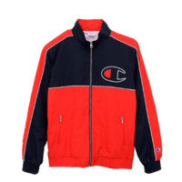 Champion Fashion jacket, young self-cultivation Baseball Jacket, red and red stitching leisure coat Red