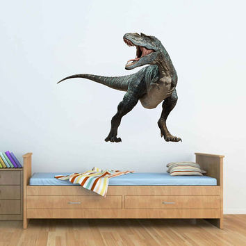 dinosaur wall Decals Tyrannosaurus wall Decals dinosaur wall decor dinosaur Full Color wall Decals for nursery for Boy's Room kids cik2249