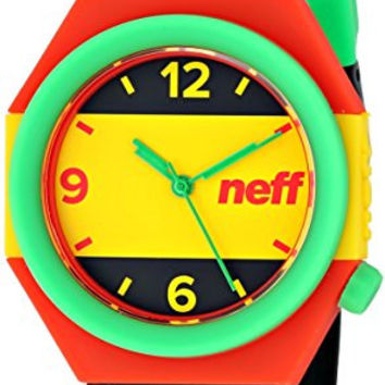 Neff Unisex NF0225RAST Stripe Analog Display Japanese Quartz Multi-Color Watch