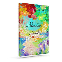 "Ebi Emporium ""Adventure Awaits"" Painting Typography Canvas Art"