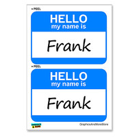 Frank Hello My Name Is - Sheet of 2 Stickers