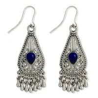 Silver Filigree Teardrop Earring