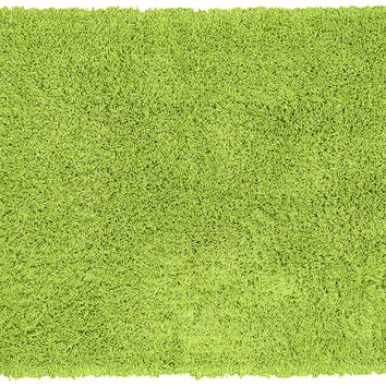 Garland Rug Jazz Shaggy Washable Nylon Rug, 30-Inch by 50-Inch, Lime Green