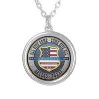 Dallas Police Memorial Round Pendant Necklace