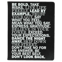 """Eccolo Desk Journal, Narrow Ruled, 10"""" x 8"""", 256 sheets - Inspirational Words : Target"""