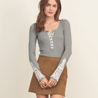 Lace Panel Henley