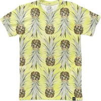 Pineapple Jungle - Yellow Men's T-Shirts by Lisa Argyropoulos | Nuvango