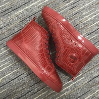 Christian Louboutin Cl Louis Orlato Red Sneakers - Best Online Sale